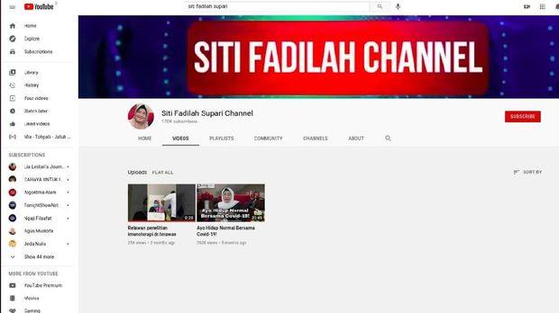 Konten video Eks Menkes Siti Fadilah Supari di-takedown YouTube