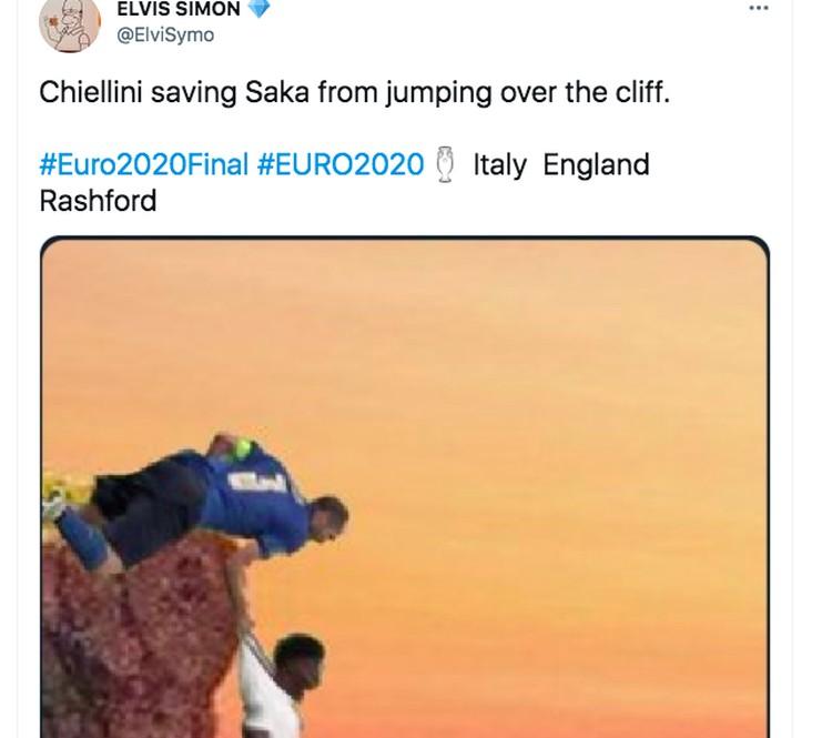 Meme Chiellini Saka