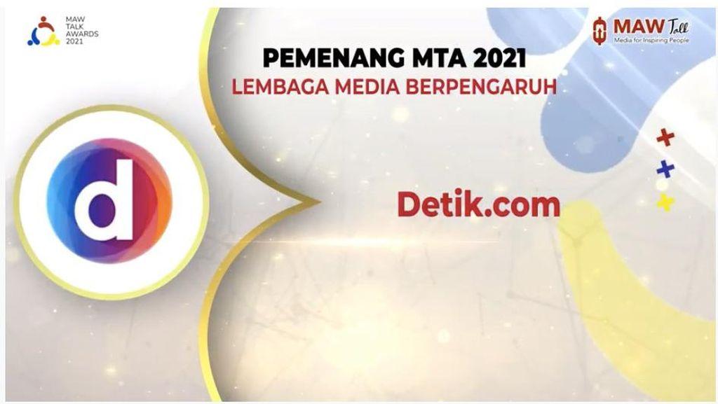 detikcom Jadi Pemenang Media Berpengaruh MAW Talk Awards 2021