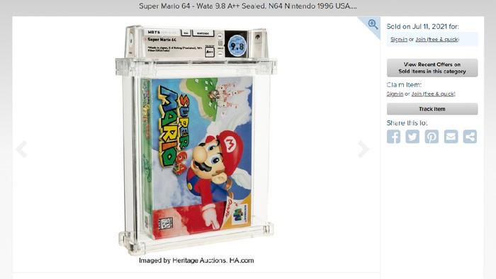 Super Mario 64 terjual Rp 22,6 miliar, jadi game termahal di dunia