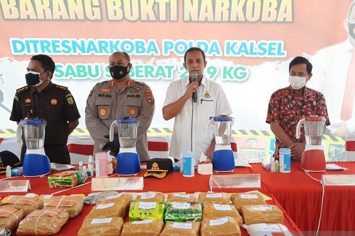 Direktur Reserse Narkoba Polda Kalimantan Selatan, Komisaris Besar Polisi Tri Wahyudi (ANTARA/Firman)