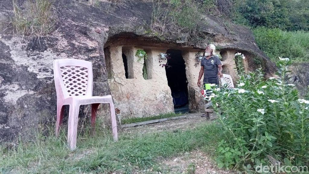 Kakek di Sulut Pakai Alat Seadanya Sulap Gua Jadi Rumah Ditinggali 10 Tahun