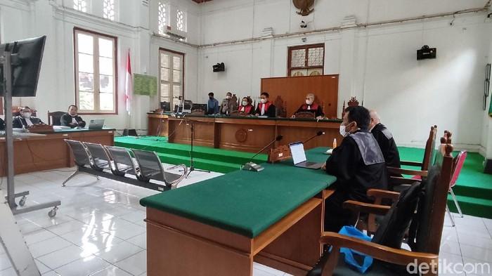 Sidang tuntutan penyuap Nurdin Abdullah, Agung Sucipto (Hermawan/detikcom).