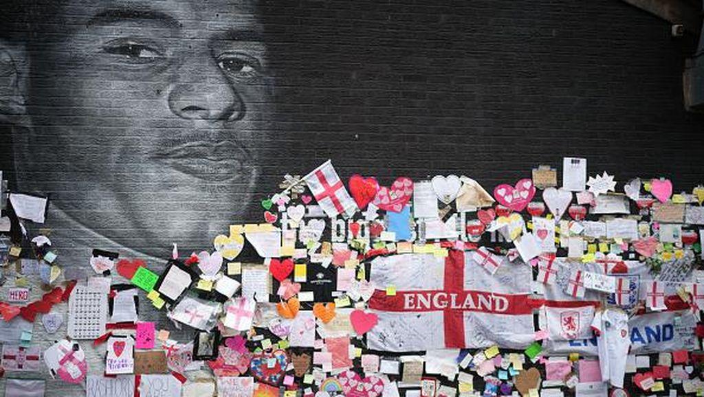 Tolak Rasisme, Mural Rashford Banjir Pesan Dukungan