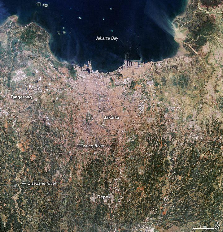 Citra satelit Jakarta tahun 1990-2019