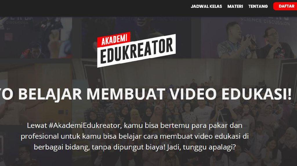 Mau Jadi Kreator Konten Edukasi? Yuk Daftar Akademi Edukreator, Gratis!