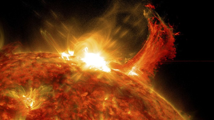 Sun storm, ilustrasi badai matahari