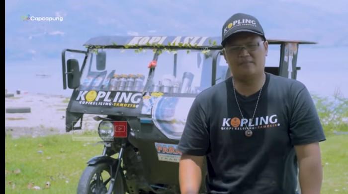 Mantan Juara Bartender Indonesia Kini Jualan Kopi Keliling Pakai Becak Motor