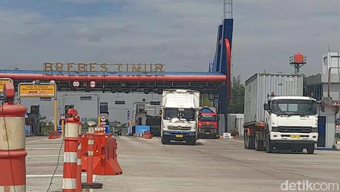 Suasana exit tol Brebes Timur, Rabu (14/7/2021).