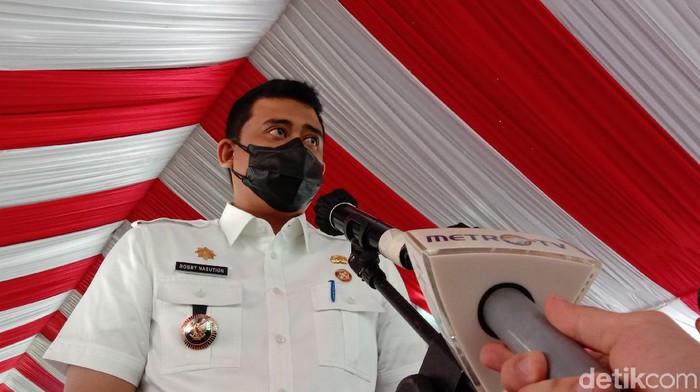 Wali Kota Medan Bobby Nasution di SMP Negeri 11 Medan (Ahmad Arfah/detikcom)