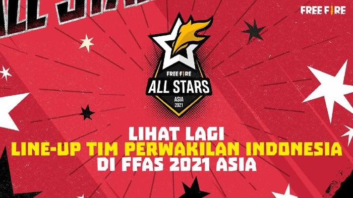 Line-Up 2 Tim Perwakilan Indonesia di Free Fire All Stars 2021: Asia