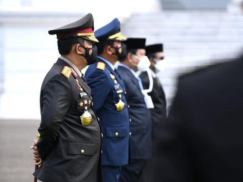 Masker Berselang ala Prabowo yang Mencuri Perhatian (Foto: Lukas - Biro Pers Sekretariat Presiden)