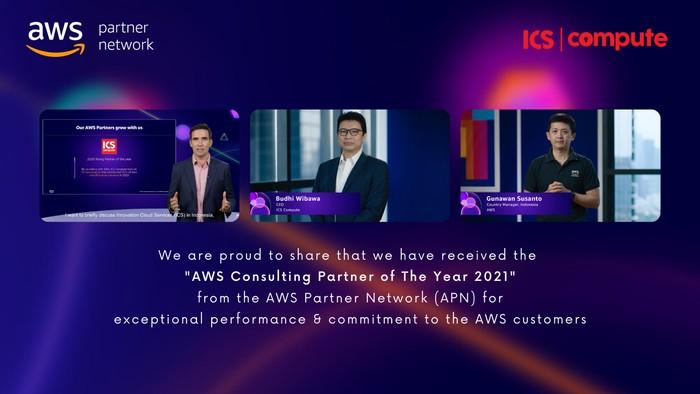Penghargaan AWS untuk ICS Compute sebagai AWS Consulting Partner of The Year 2021.