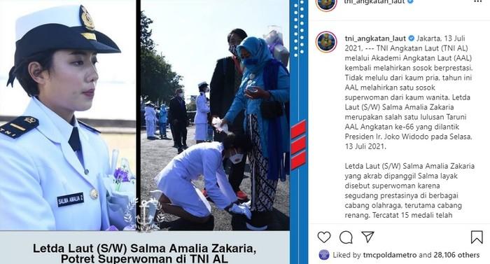 Salma amalia zakaria taruna tni AL