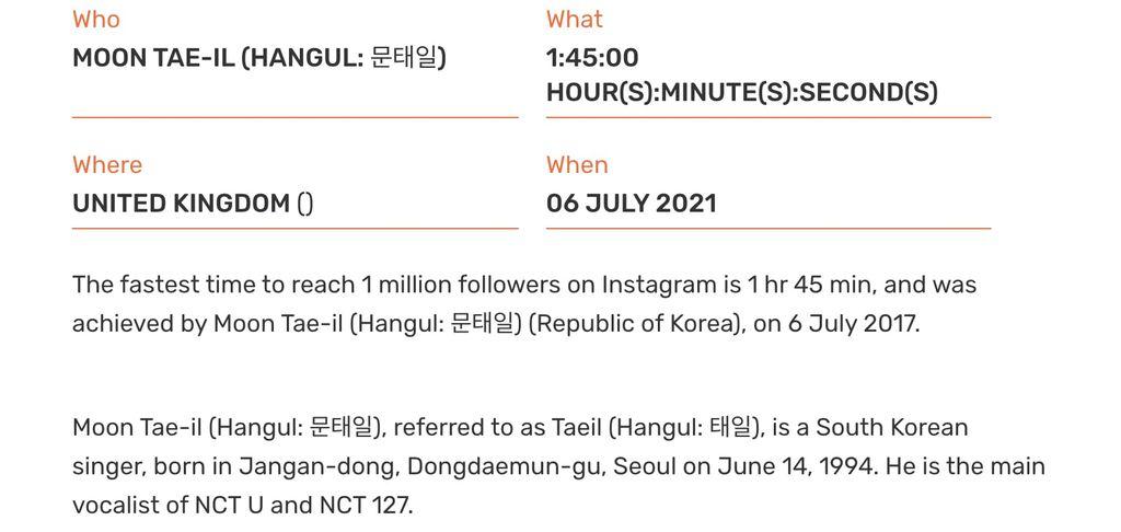 Taeil NCT Pecahkan Rekor Dunia