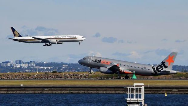 Traveler dan penerbangan di Australia