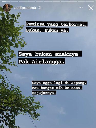 Viral pria yang namanya sama dengan anak dari Airlangga Hartanto.