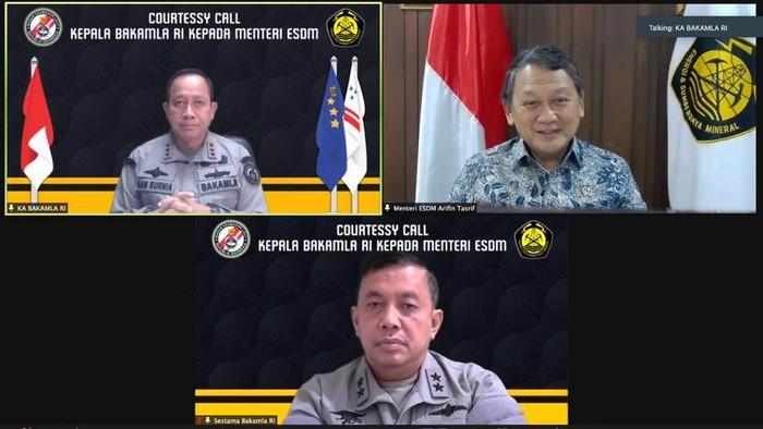 Kepala Bakamla-Menteri ESDM Bahas Keamanan Migas di Laut Natuna Utara