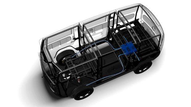 Mobil listrik berkonsep modular, XBUS