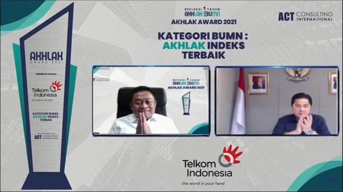 Telkom menjadi juara umum AKHLAK Award