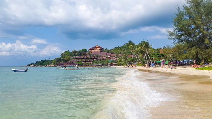 In January 2016, tourists were sunbathing on Haad Yao Beach in Koh Phangan, Thailand
