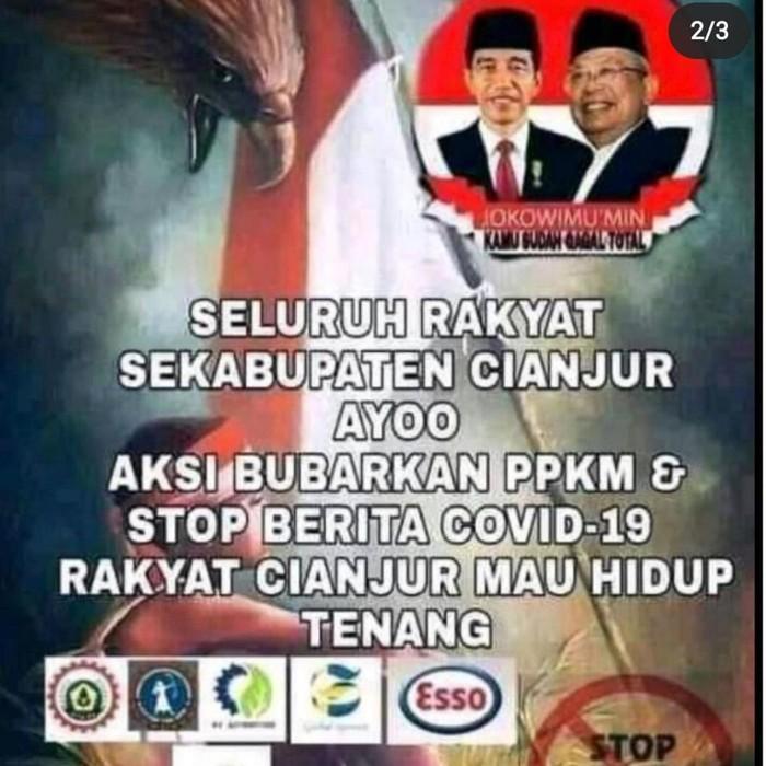 Poster Bubarkan PPKM di Cianjur