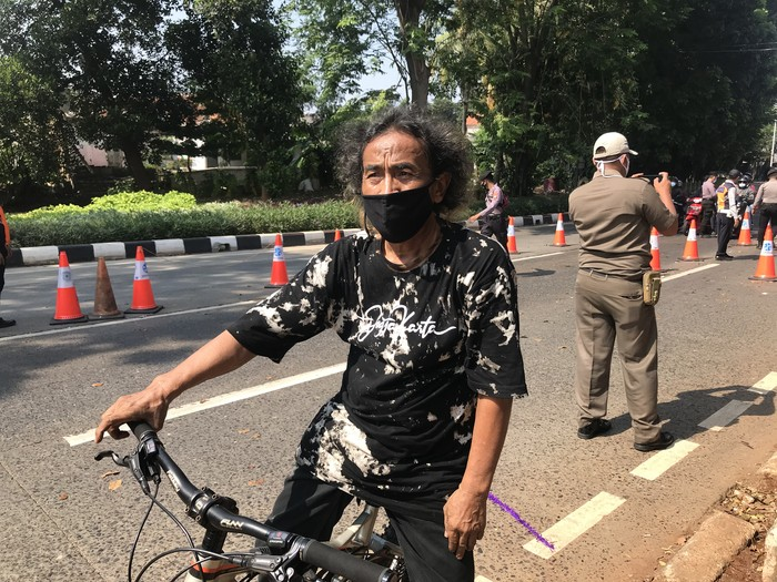 Suasana di pos penyekatan PPKM darurat Lenteng Agung, Jakarta Selatan (Nur Azizah-detikcom)