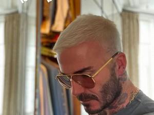Penampilan Baru David Beckham dengan Rambut Di-bleach, Kembaran dengan Anak