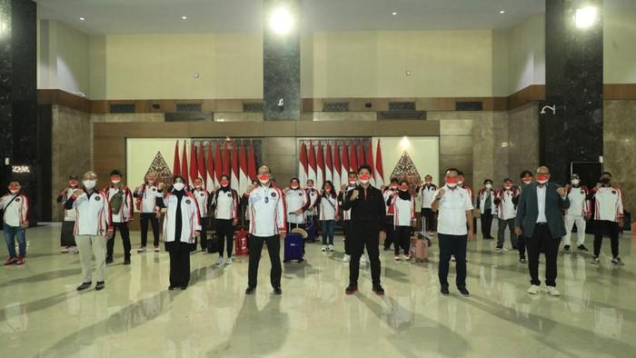 Kontingen Indonesia untuk Olimpiade Tokyo.