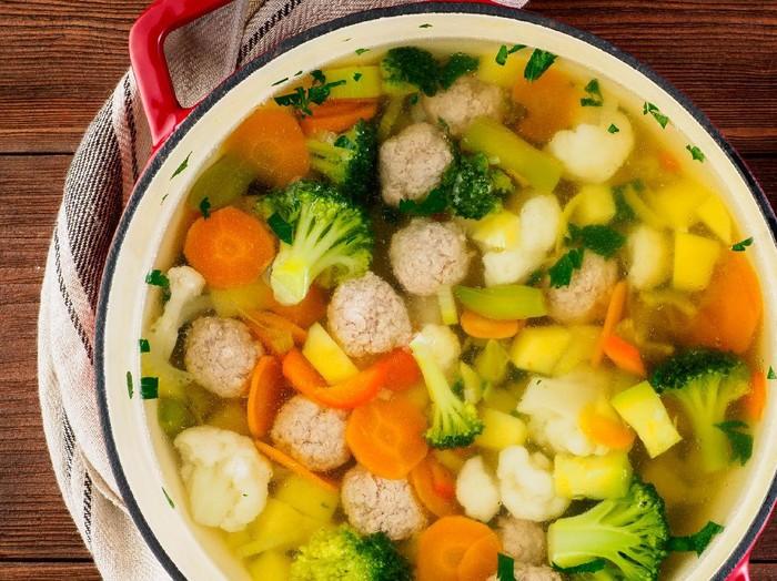 Resep Sop Bola Daging Sayuran