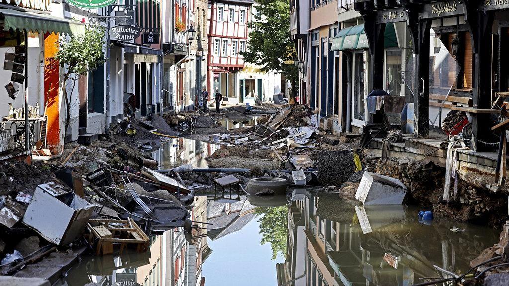 Potret Kerusakan Parah Akibat Banjir Bandang di Jerman