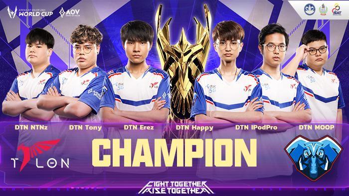 Kalahkan Chinese Taipei, DTAC Talon Juara Arena of Valor World Cup 2021