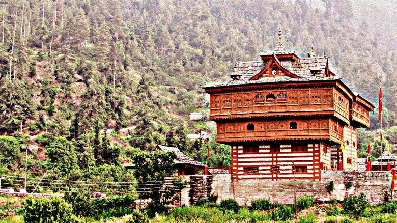 A temple in the Shimla district of himachal pradesh, This is a beautiful example of hill architecture, mainly built in cutstone and wood.