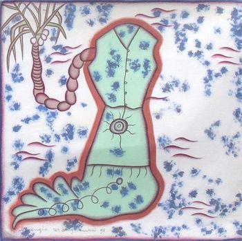 Lukisan I GAK Murniasih Dipamerkan di Gajah Gallery Singapura