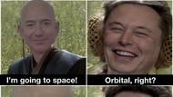 Elon Musk Like Meme yang Ejek Jeff Bezos ke Luar Angkasa