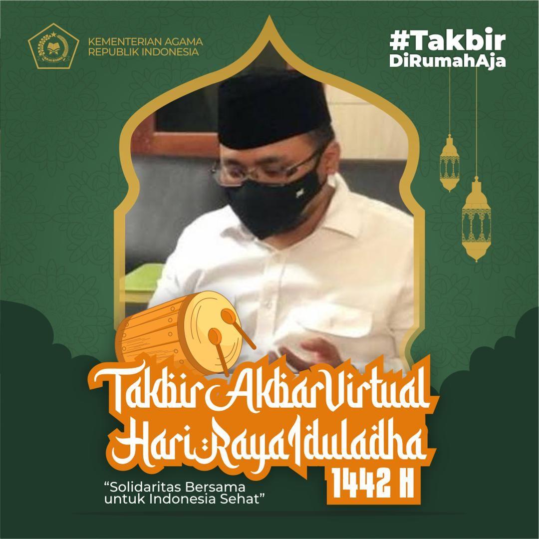 Menag Yaqut Cholil Qoumas ajak warga Takbir Akbar Virtual di rumah