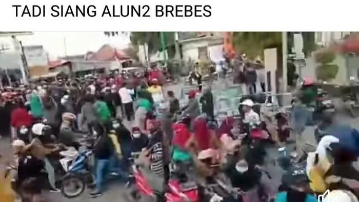 Postingan hoax demo tolak PPKM Darurat di Brebes.