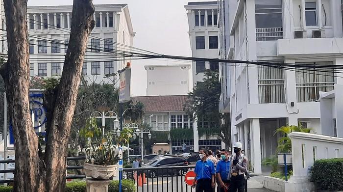 Suasana kantor BPOM usai kebakaran (Foto: Yogi/detikcom)