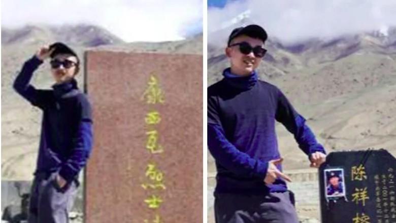 traveler china dikejar polisi karena foto di makam pahlawan