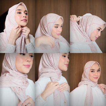Tutorial hijab untuk Hari Raya Idul Adha.