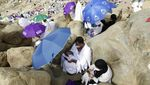 Potret Jemaah Haji saat Wukuf di Arafah