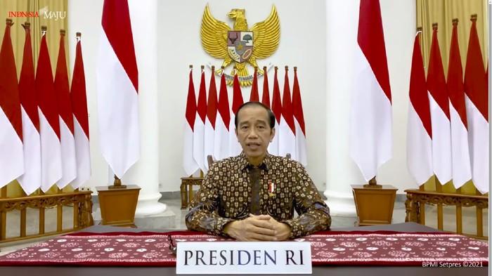 Presiden Jokowi  sampaikan perpanjangan PPKM darurat hingga 25 Juli
