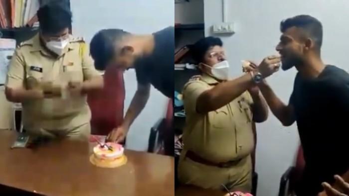 Suap-suapan Kue dengan Napi yang Ulang Tahun, Polisi Ini Diturunkan Pangkat