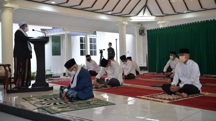 Wapres Maruf Amin Salat Idul Adha di Rumah Dinas (dok. Setwapres)
