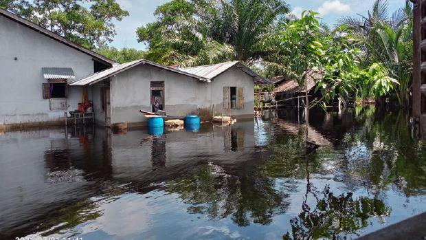 Banjir di Mempawah, Kalimantan Barat (dok. BNPB)