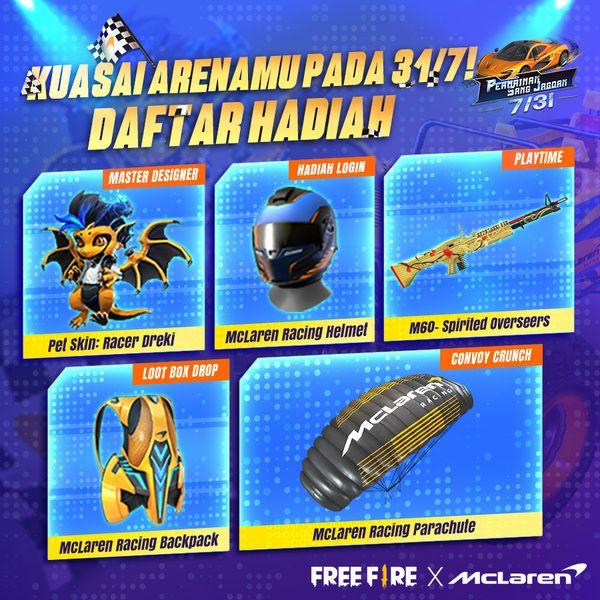 Dapatkan Bundle McLaren Racing Di Event Kolaborasi Free Fire x McLaren