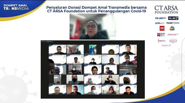 Dompet Amal Transmedia-CT ARSA Salurkan Bantuan Penanganan Corona Tahap 10 (Foto: Istimewa)
