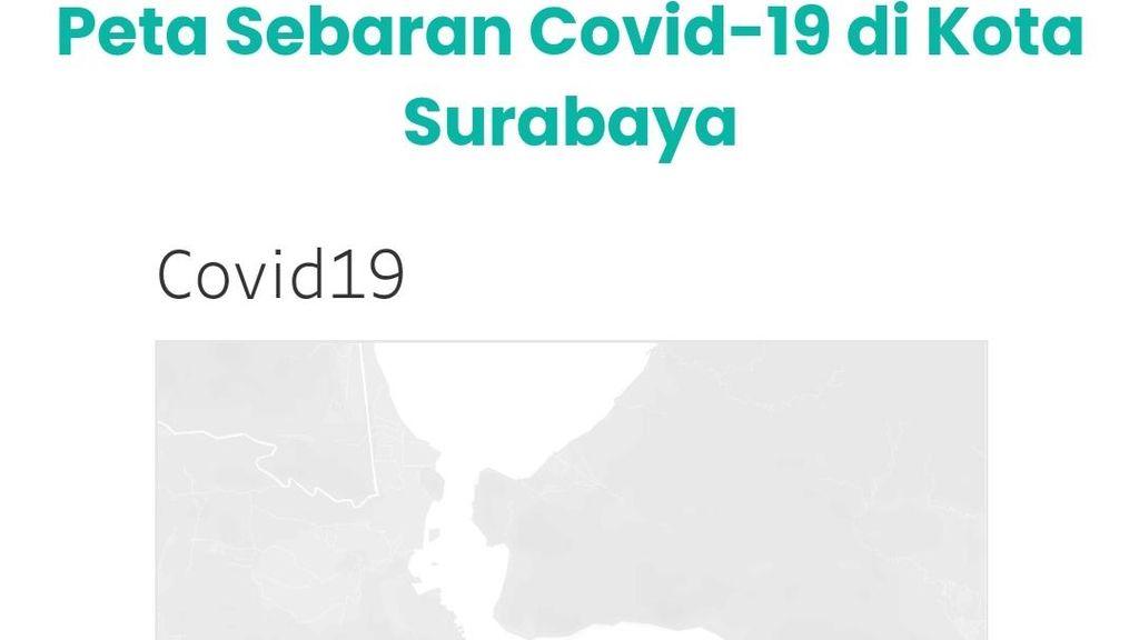 Zona Merah, Kasus Aktif di Surabaya Tertinggi di Jawa Timur