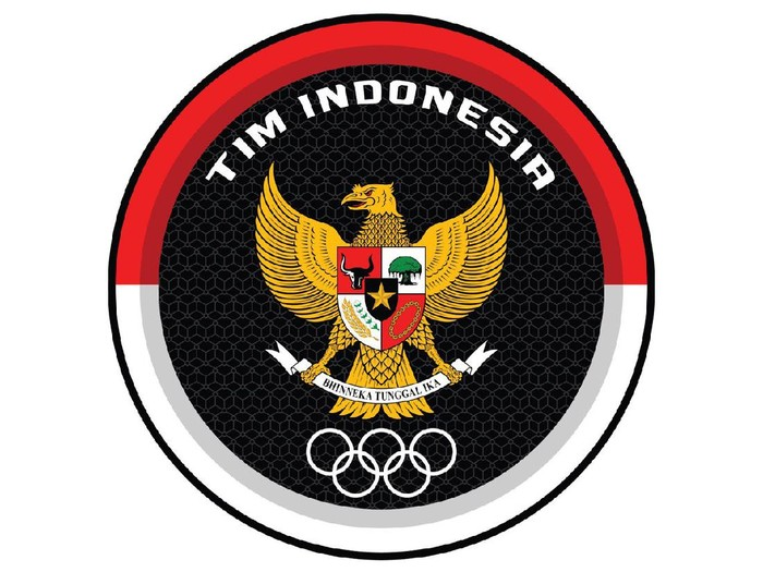 Logo Kontingen Indonesia di Olimpiade Tokyo 2020.