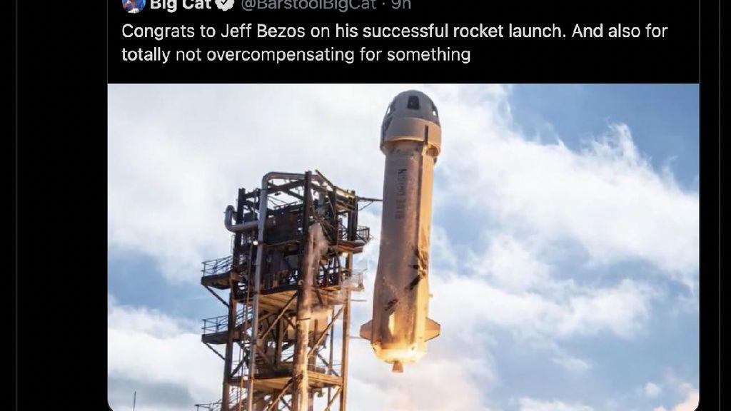 Roket Jeff Bezos Ditertawakan Mirip Kemaluan